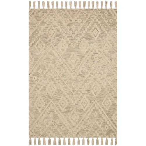 Crafted by Loloi Zagora Oatmeal Rectangle: 2 Ft. 3 In. x 3 Ft. 9 In. Rug