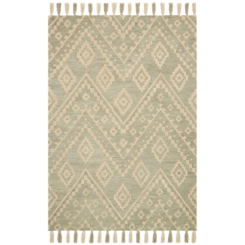 Crafted by Loloi Zagora Seafoam Green Rectangle: 2 Ft. 3 In. x 3 Ft. 9 In. Rug