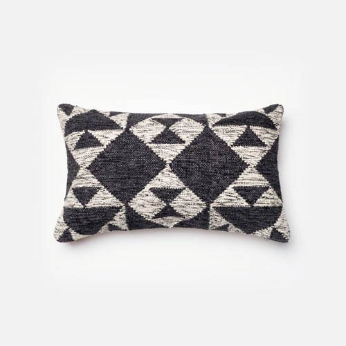 Loloi Charcoal And Ivory 40 X 40 Inch Decorative Pillow With Poly Classy 13 X 21 Pillow Insert
