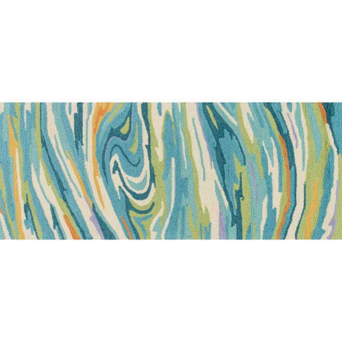 Olivia Teal Rectangular: 2 Ft 3 In x 3 Ft 9 In Rug