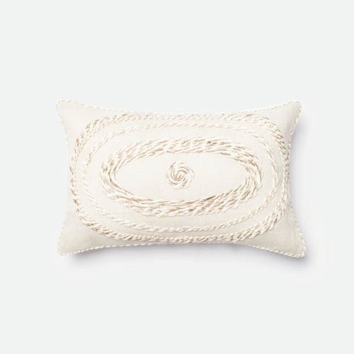 Loloi Ivory 40 X 40 Inch Decorative Pillow With Poly Insert Magnificent 13 X 21 Pillow Insert
