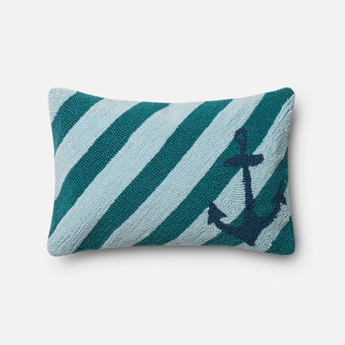 Teal 13-Inch x 21-Inch Decorative Pillow with Poly Insert
