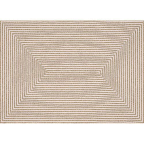 In/Out Beige Rectangular: 9 Ft 3 In x 13 Ft Rug