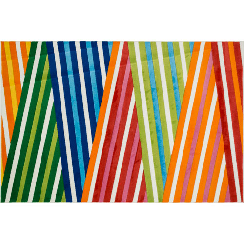 Juniper Multicolor Rectangular: 4 Ft 4 In x 6 Ft 7 In Rug