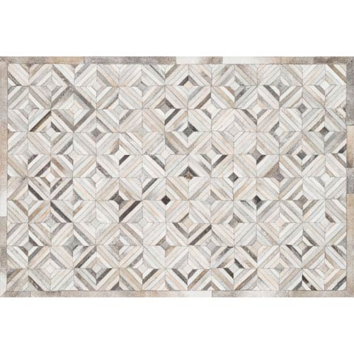 Loloi Promenade Ivory and Grey Rectangular: 3 Ft 6 In x 5 Ft 6 In Rug