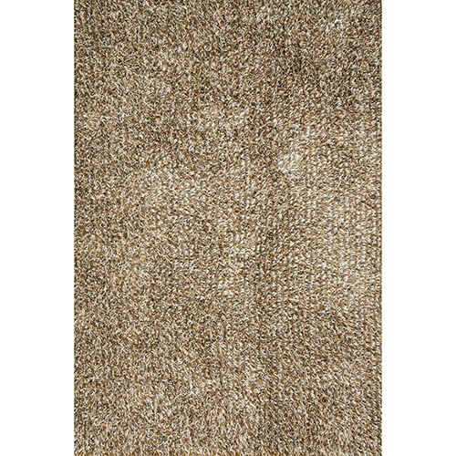 Carrera Shag Gold and Silver Rectangular: 7 Ft. 9 In. x 9 Ft. 9 In. Rug