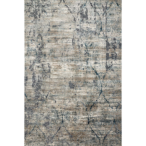 Cascade Taupe and Blue Runner: 2 Ft. 7 In. x 10 Ft. Rug