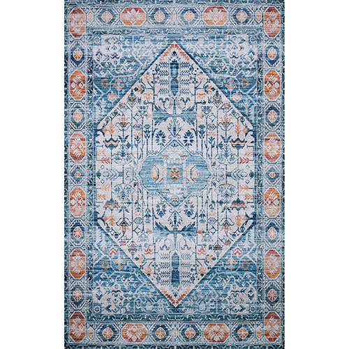 Cielo Ivory and Sunset Rectangular: 3 Ft. x 5 Ft. Rug