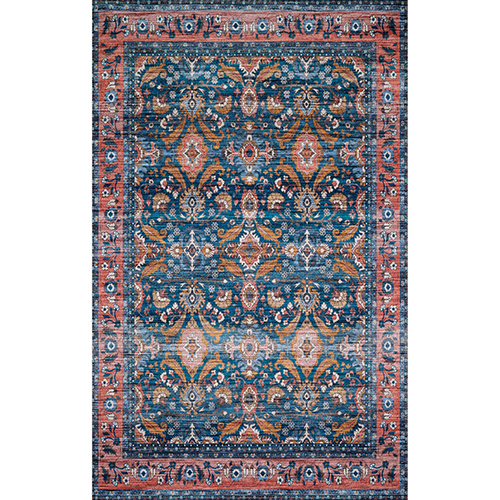 Cielo Ocean and Coral Rectangular: 5 Ft. x 7 Ft. 6 In. Rug