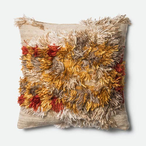 Camel and Sunset 22-Inch Pillow with Down Insert