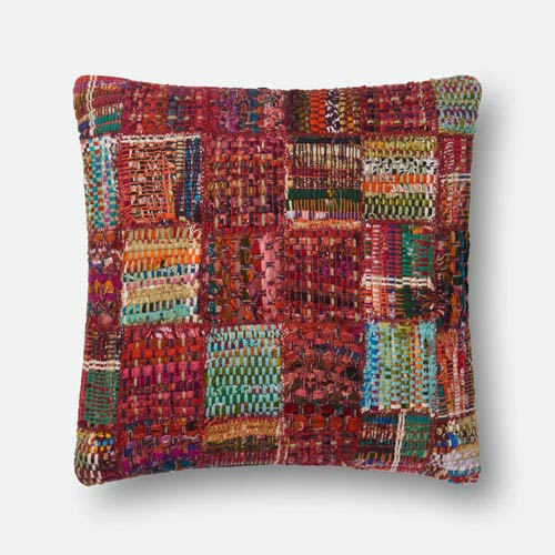Multicolor 22 In. x 22 In. Pillow Cover with Down Insert