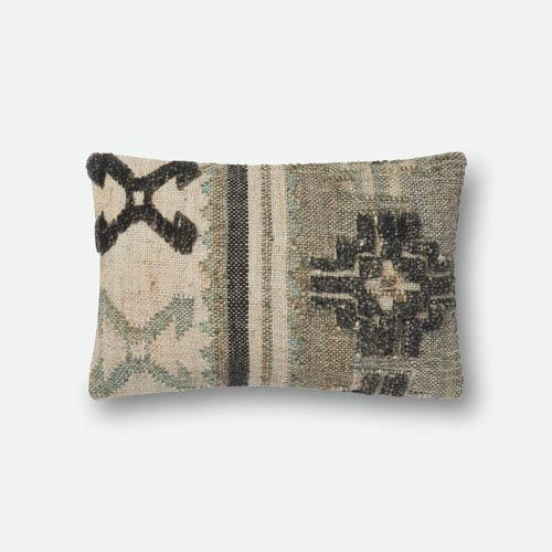 Loloi Multicolor 13 In. x 21 In. Pillow Cover with Down Insert