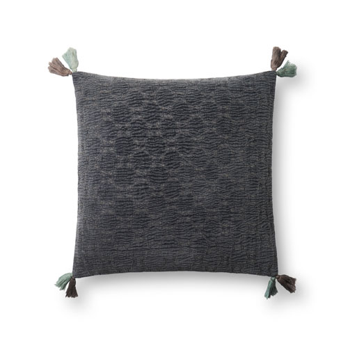 Charcoal 18 In. Pillow with Down Fill