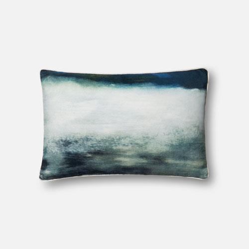 Loloi Blue 13 x 21 In. Pillow with Down Fill