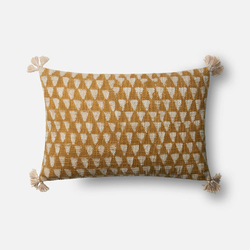 Gold 13 x 21 In. Pillow with Down Fill