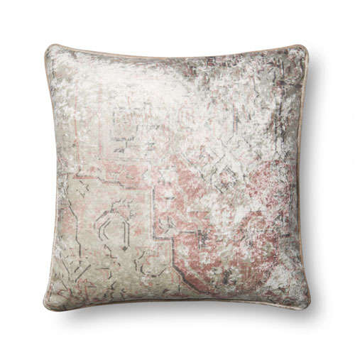 Pink 22 In. Pillow with Down Fill
