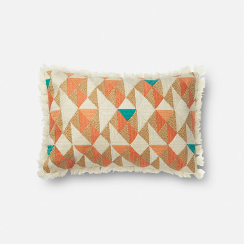 Loloi Multicolor 13 x 21 In. Pillow with Down Fill