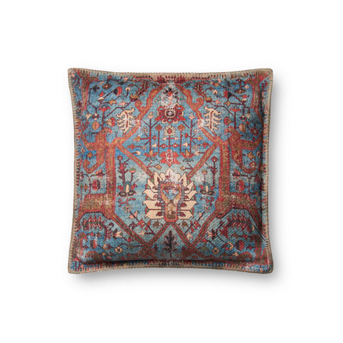 Loloi Multicolor 18 In. Pillow with Down Fill