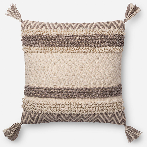 Natural and Brown 22 In. x 22 In. Throw Pillow