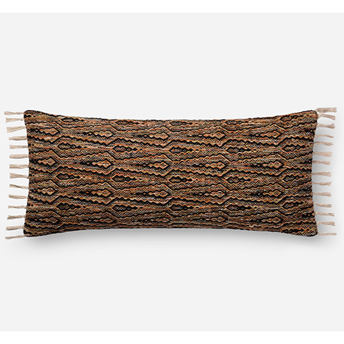 Multicolor 13 In. x 35 In. Throw Pillow with Down Fill