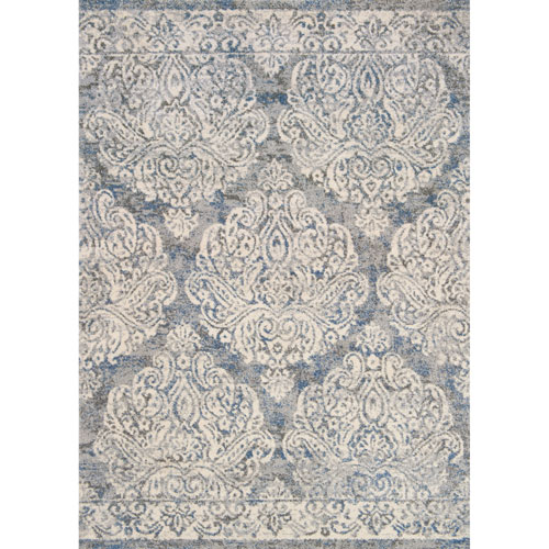 Loloi Emory Slate and Ivory Runner: 2 Ft. 5 In. x 7 Ft. 7 In.  Rug