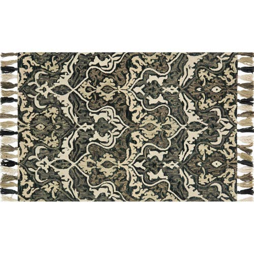 Loloi Farrah Charcoal and Gray Rectangular: 2 Ft. 3-Inch x 3 Ft. 9-Inch Area Rug