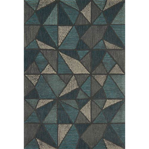 Loloi Gemology Teal and Gray Rectangular: 3 Ft. 6-Inch x 5 Ft. 6-Inch Rug