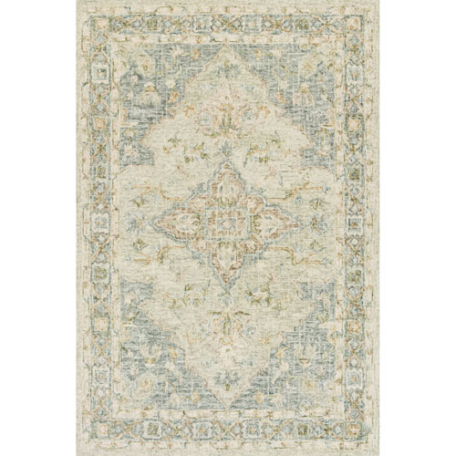Julian Seafoam Green and Spa Runner: 2 Ft. 6 In. x 7 Ft. 6 In.  Rug
