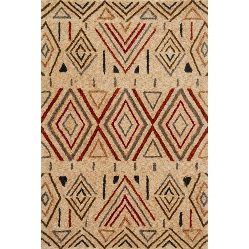 Kalliope Sand and Rust Rectangular: 7 Ft. 9-Inch x 9 Ft. 9-Inch Rug