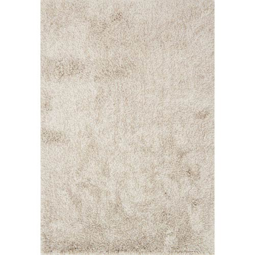 Loloi Kendall Shag Beige Rectangular: 2 Ft. 3-Inch x 3 Ft. 9-Inch Rug