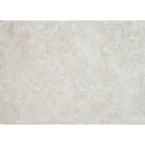London Shag White Rectangular: 2 Ft. 3 In. x 3 Ft. 9 In. Rug