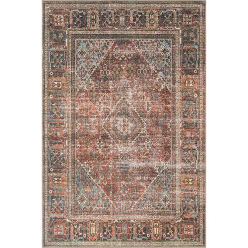 Loren Brick and Midnight Rectangular: 7 Ft. 6 In. x 9 Ft. 6 In.  Rug