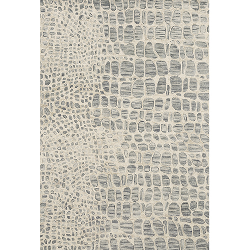 Masai Silver and Gray Square: 1 Ft. 6 In. x 1 Ft. 6 In. Rug