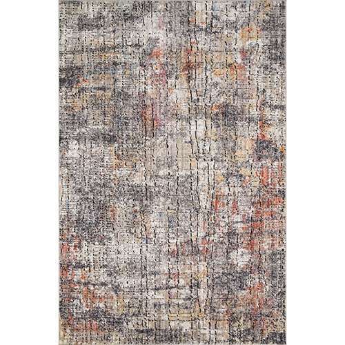 Medusa Graphite and Sunset Square: 1 Ft. 6 In. x 1 Ft. 6 In. Rug