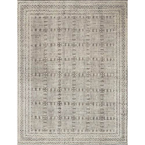Origin Grey and Ivory Rectangular: 9 Ft. x 12 Ft. Rug