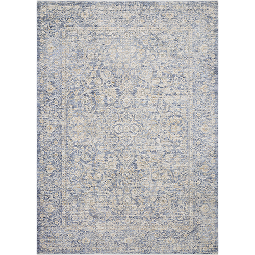 Pandora Blue and Gold Square: 1 Ft. 6 In. x 1 Ft. 6 In. Rug