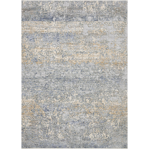 Pandora Blue and Gold Runner: 2 Ft. 6 In. x 8 Ft. Rug