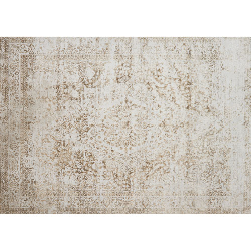 Loloi Patina Champagne and Light Grey Rectangular: 2 Ft. 7 In. x 4 Ft. Rug