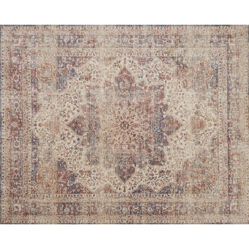Loloi Porcia Ivory and Red Rectangular: 2 Ft. x 3 Ft. 4 In. Rug
