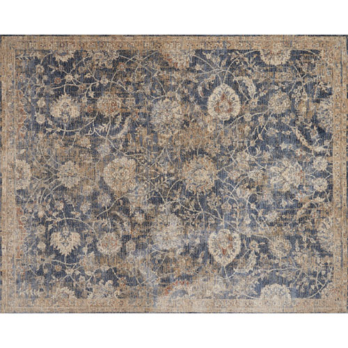 Loloi Porcia Blue and Beige Square: 1 Ft. 6 In. Rug