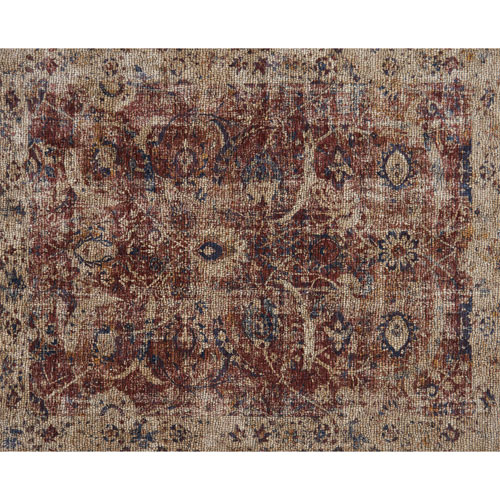 Loloi Porcia Red and Beige Square: 1 Ft. 6 In. Rug