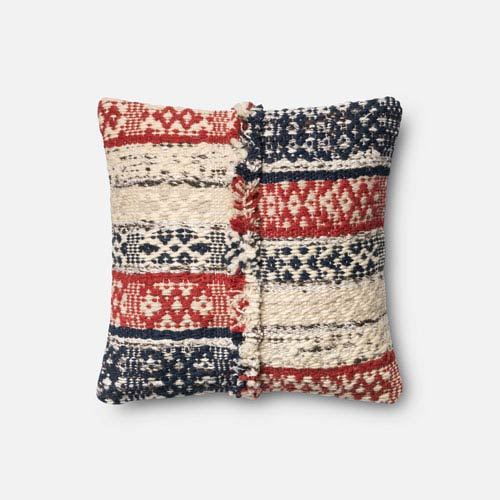 Red and Blue 18-Inch Pillow with Poly Insert