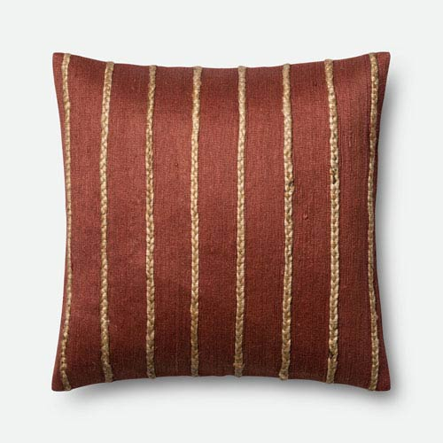 Rust and Steel 22-Inch Square Throw Pillow with Polyester Filling