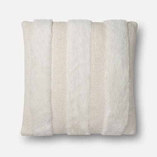 White 22 In. x 22 In. Pillow Cover with Poly Insert