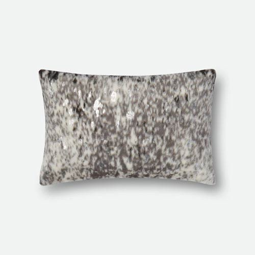 Stone and Silver 13 In. x 21 In. Pillow Cover with Poly Insert