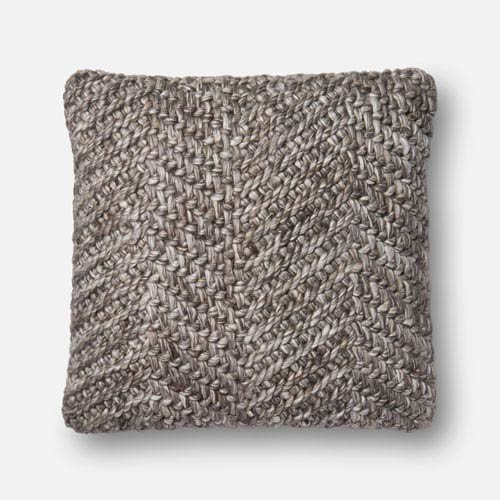 Grey 22 In. x 22 In. Pillow Cover with Poly Insert