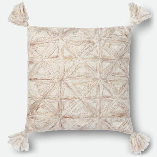 Natural 22 In. x 22 In. Pillow Cover with Poly Insert