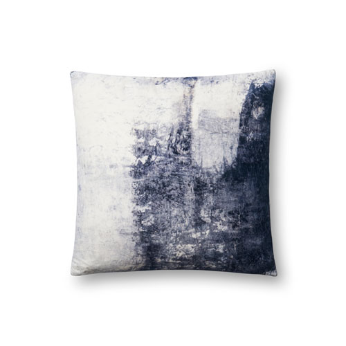 Loloi Blue 18 In. Pillow with Poly Fill