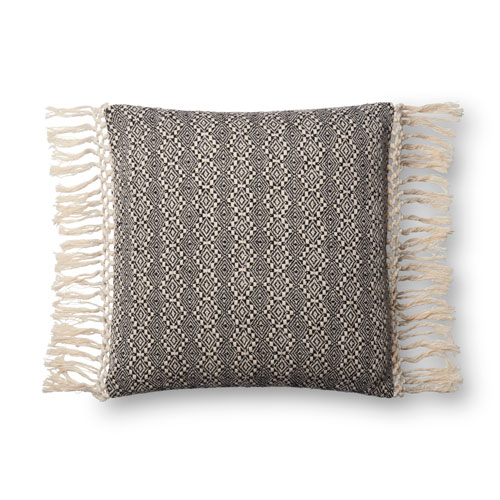 Loloi Black and White 18 In. Pillow with Poly Fill
