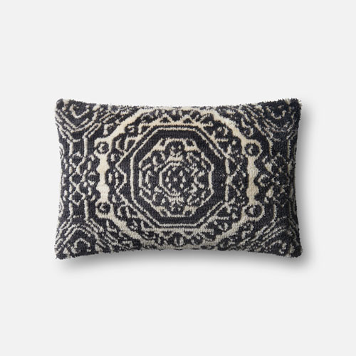 Loloi Black and White 13 x 21 In. Pillow with Poly Fill